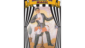 Image of a Side Show Banner, Magician