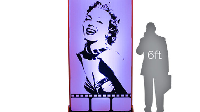 Picture of a Movie Star Lit Silhouette - Marilyn 4x8