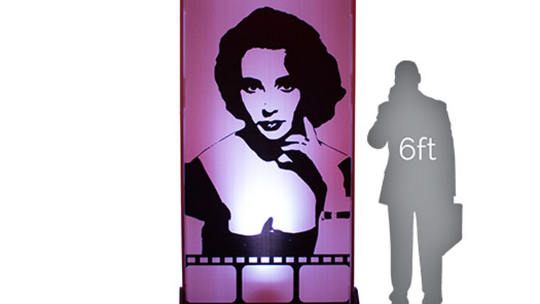 Picture of a Movie Star Lit Silhouette - Liz 4x8