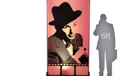 Image of a Movie Star Lit Silhouette - Frank 4x8