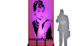 Image of a Movie Star Lit Silhouette - Audrey 4x8