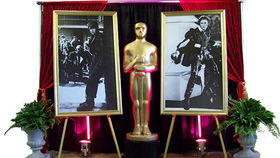 Image of a Movie Star: Marlon B&W Gold Frame