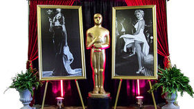 Image of a Movie Star: Rita B&W Gold Frame