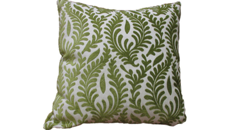 Picture of a Light Olive Floral Pillow