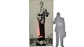Image of a Lit Silhouette Wall: Buddy Holly