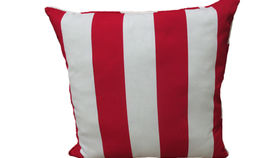 Image of a Red Stripe Pillow