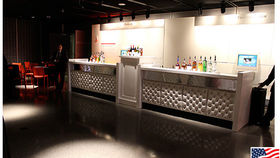 Image of a Bars: Cosmopolitan Bar, 2 Fronts w/ 1 Pedestal, Straight
