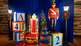 Image of a Santa Photo Reception Area - Standard Kit