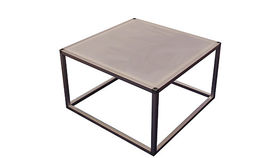 Image of a Aluminum Frame Coffee Table with Acrylic Top