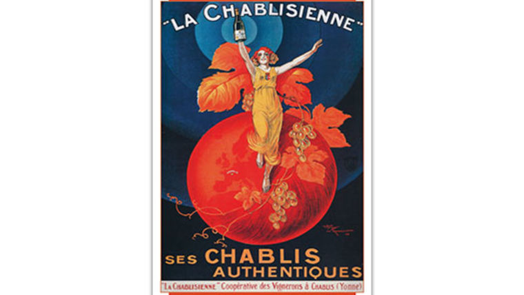 Picture of a French Lithograph, La Chablisienne