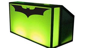 Image of a Bar: Lit Bar w/ Batman Logo