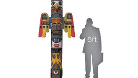 Image of a Statue: Falcon Totem Pole