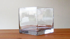 "Image of a 5"" Glass Cube Vase"