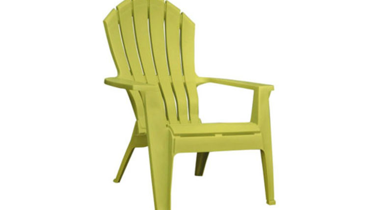 Picture of a Green Resin Adirondack Chair