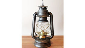Image of a Metal Oil Lantern