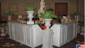 Image of a Granite Garden V Bar with Urn