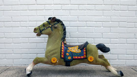 Image of a Fuzzy Carousel Horse
