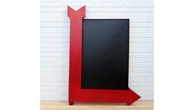 Image of a Red Arrow Chalk Board