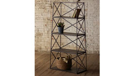 Image of a 4 Tier Iron Shelving Unit