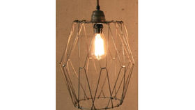 Image of a Folding Wire Pendant Lamp
