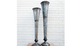 Image of a Zinc Cone Vase, Large