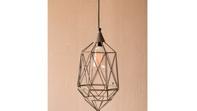 Image of a Geometric Wire Pendant Lamp