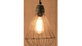 Image of a Hanging Wire Lamp with Flare Base