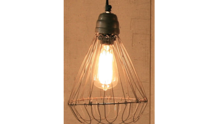 Picture of a Hanging Wire Lamp with Flare Base