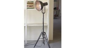 Image of a Caged Studio Floor Lamp