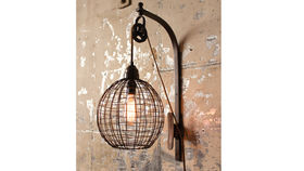 Image of a Sphere Wall Sconce Lamp with Pulley