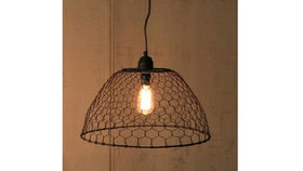 Image of a Chicken Wire Pendant Lamp
