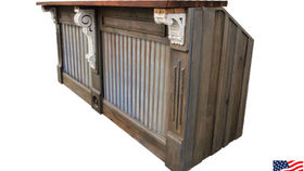 Image of a Bar: Restoration Bar w/ Corrugated Tin Panels, Single