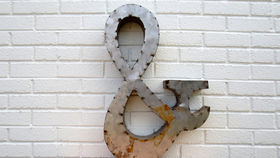 Image of a Reclaimed Tin Letter, &