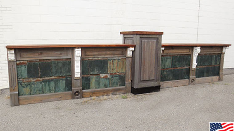 Picture of a Bars: Restoration Bar w/ Shingle Panels, 2 Fronts w/ 1 Pedestal, Straight
