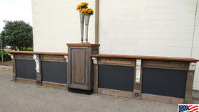 Image of a Bars: Restoration Bar w/ Chalkboard Panels, 2 Fronts w/ 1 Pedestal, Straight