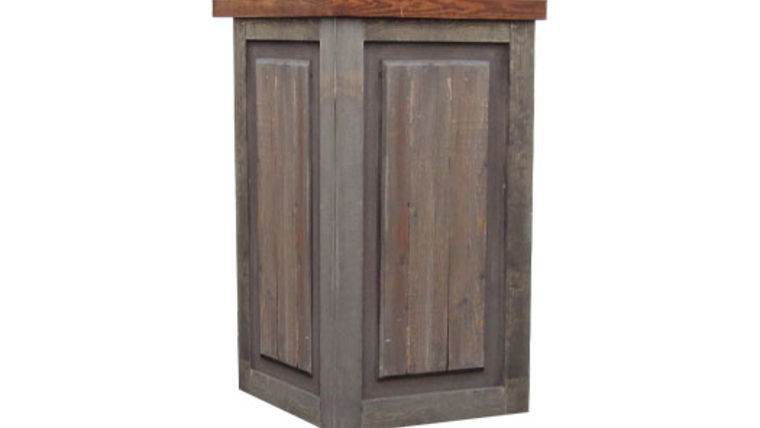 Picture of a Bars: Weathered Pedestal w/ Butcher Block Countertop, Single