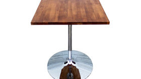 Image of a Butcher Block Cafe Table with Chestnut Stain