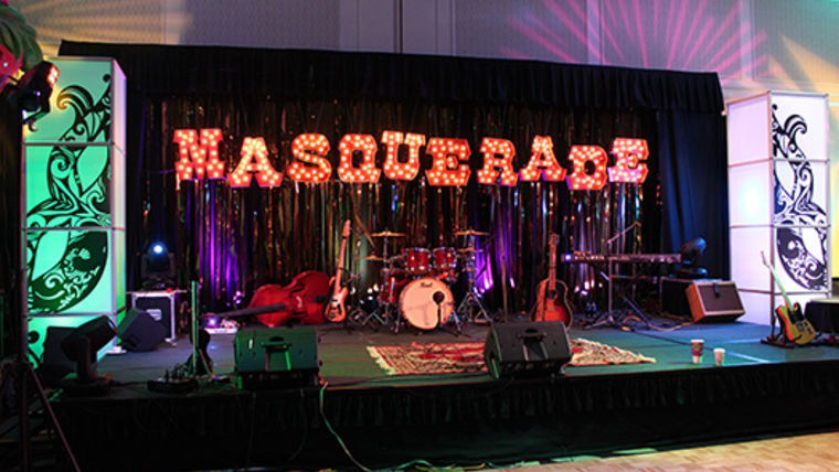 Picture of a Stage Set: Masquerade Design