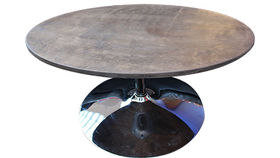 Image of a Oval Coffee Table, Weathered, with Trumpet Base