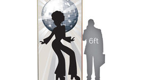 Image of a Lit Silhouette: Disco Girl