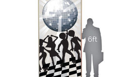 Image of a Lit Silhouette: Disco Dancers on Dance Floor