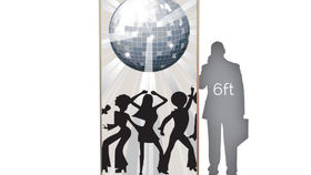 Image of a Lit Silhouette: Disco Dancers