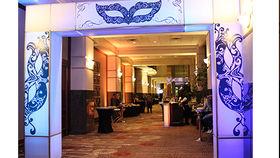 Image of a Masquerade Marquee Entranceway