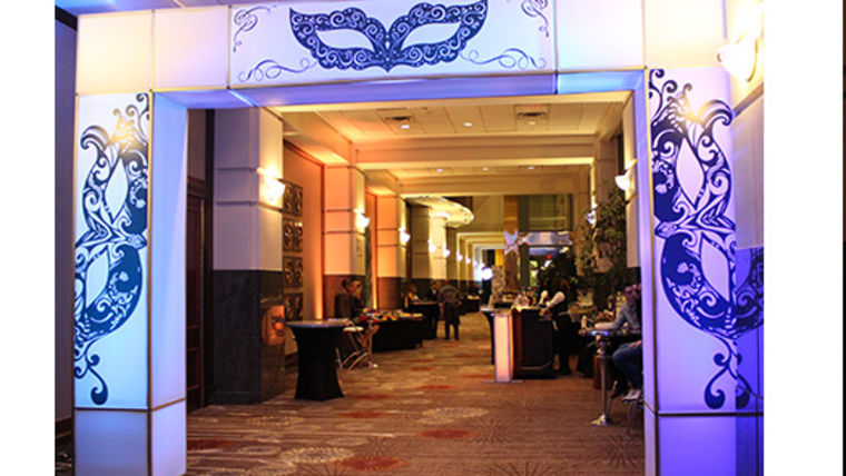 Picture of a Masquerade Marquee Entranceway