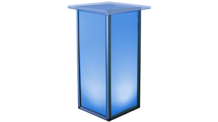 "Picture of a Lit Pedestal with 24"" Acrylic Top"