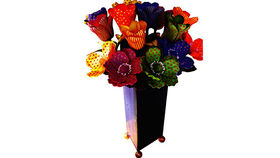 Image of a Floral: Madonna Flowers, Brightly Painted Floral