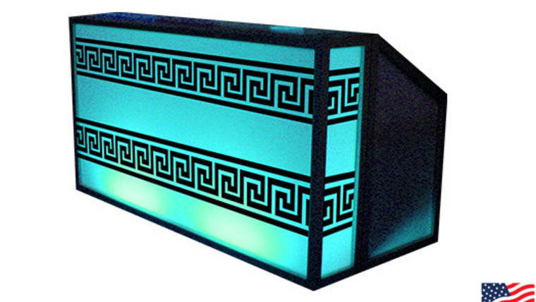 Picture of a Lit Bar with Greek Pattern