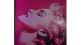 Image of a Lithograph: Pop Material Girl Magenta