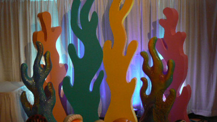 Picture of a Prop: Under the Sea, Coral Solid Color, 7-8ft Luan & Foam. Copy