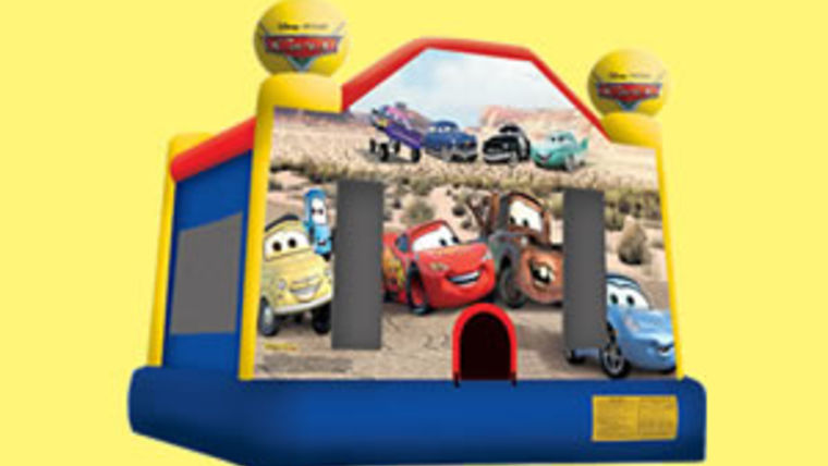 Picture of a CARS Bounce House